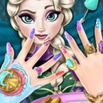 Frozen Elsa Nails Spa
